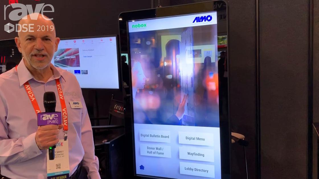 DSE 2019: Almo Pro AV Demos HTML 5 Content on Peerless-AV Kiosk