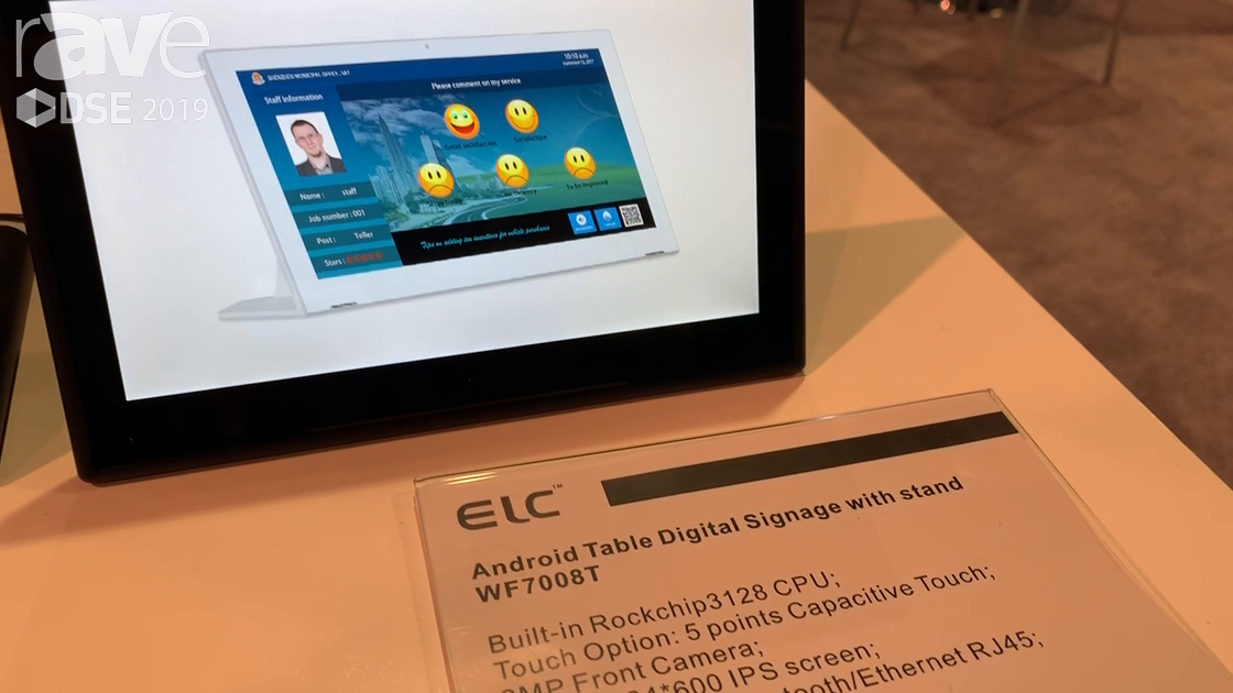 DSE 2019: ELC Showcases WF7008T Digital Signage Table with Stand