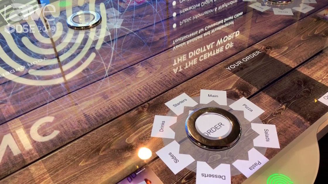 DSE 2019: Zytronic Demos Third-Party Button Embedded into Touch Table