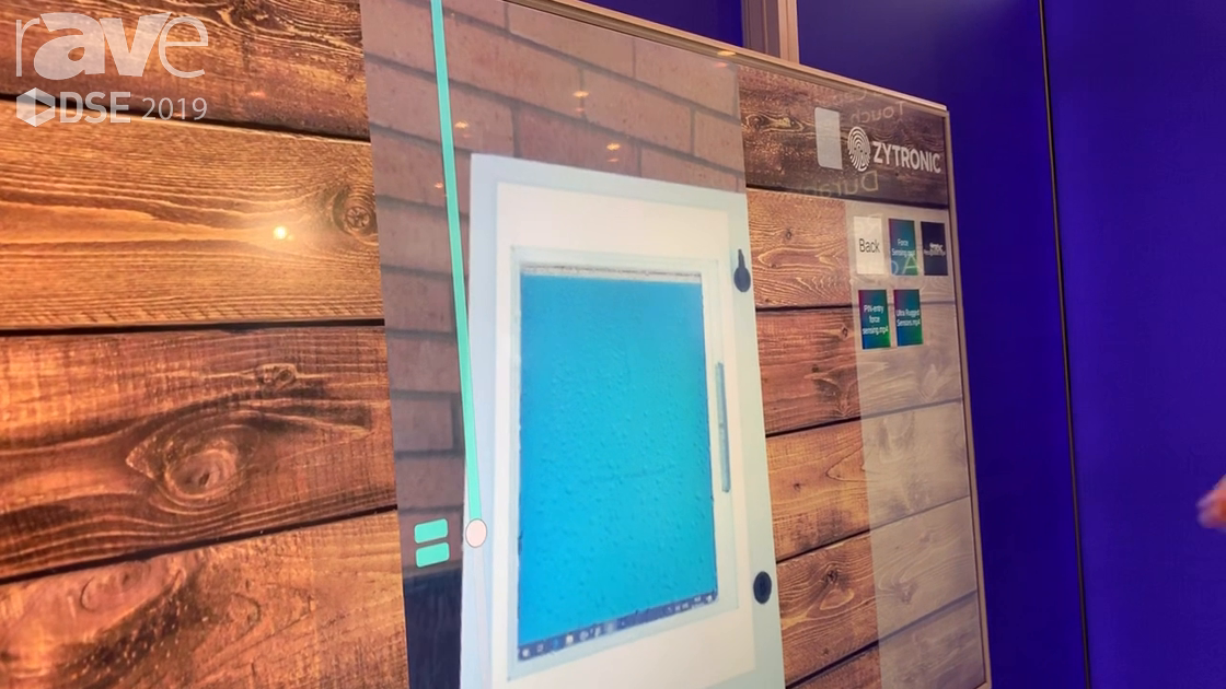 DSE 2019: Zytronic Demos a Touch Screen that Works Even While Wet