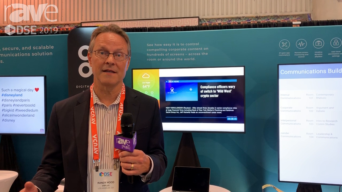 DSE 2019: Enplug Provides Easy-to-Use Digital Signage Software With 31 Apps