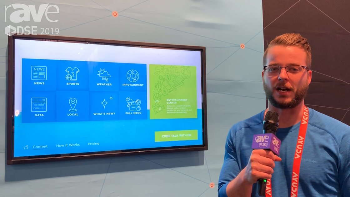 DSE 2019: Screenfeed Showcases a Full Online Store of Ready-Made Digital Signage Content