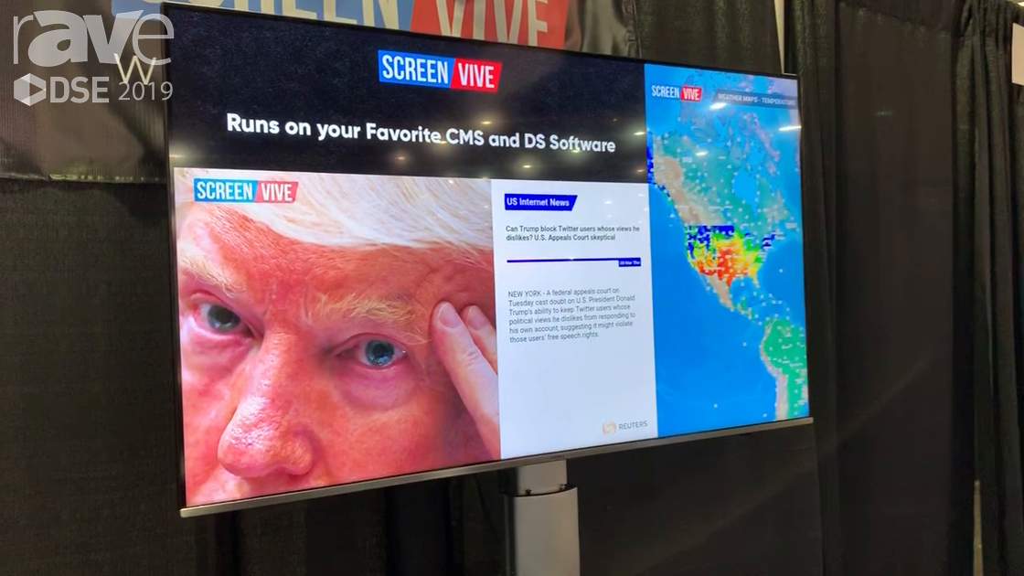 DSE 2019: ScreenVIVE Offers Content Feeds and Content Creation