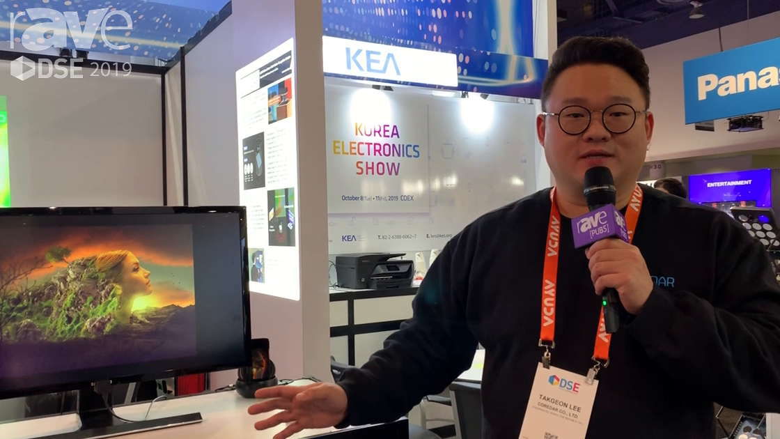 DSE 2019: Korea CoreDAR Demos Its T-Lidar Device for Making Any Display a No Touch Touchscreen