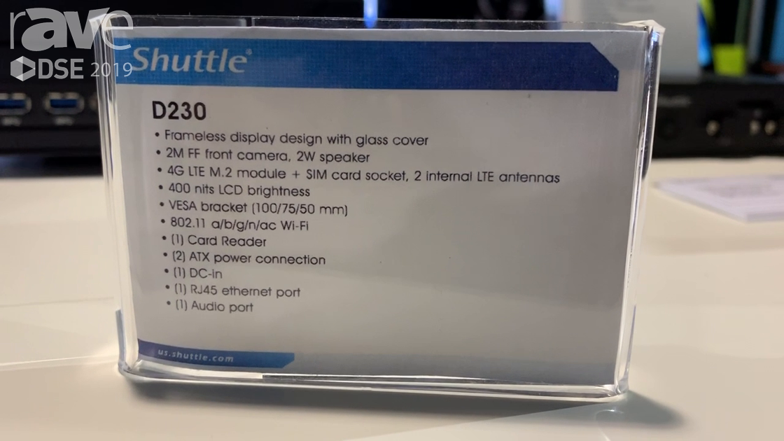 DSE 2019: Shuttle Presents D230 Android 5.1-Based Platform With Facial Recognition