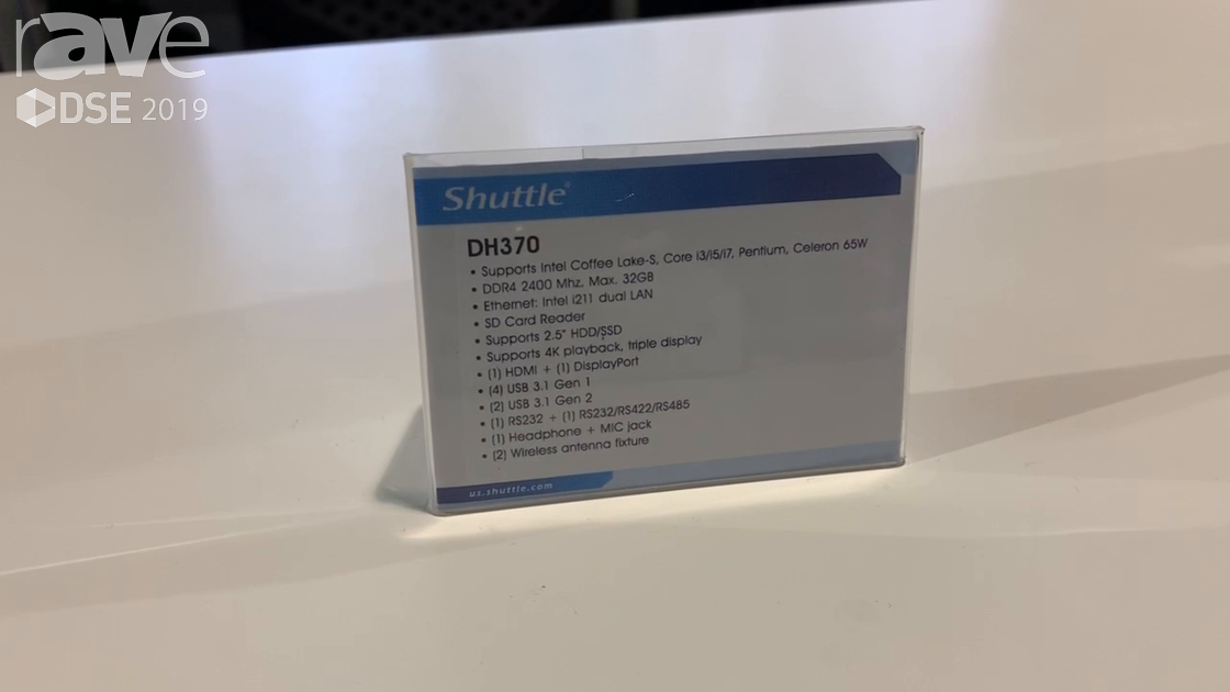 DSE 2019: Shuttle Showcases DH370 Small Form Factor PC