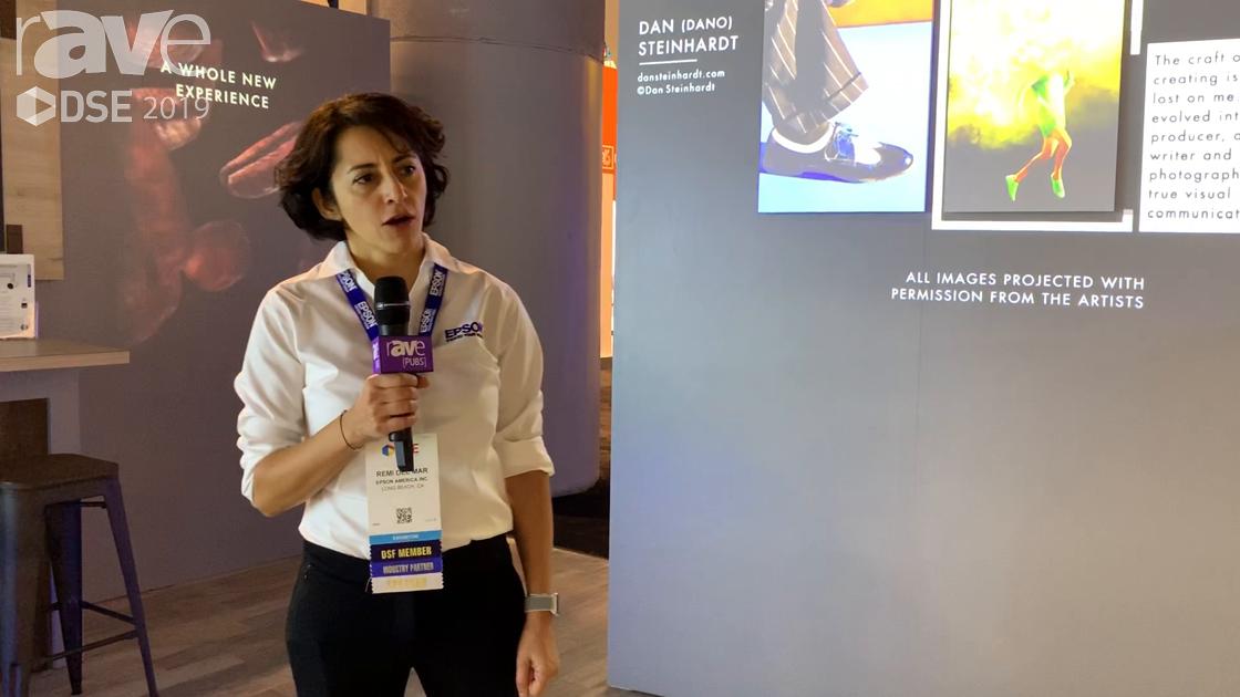 DSE 2019: Epson Highlights Its PowerLite 1615U and LightScene Projectors in Digital Art Gallery