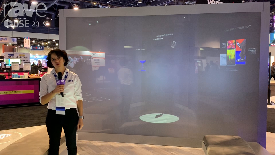 DSE 2019: Epson Demos the Pro1755 Projector in Application With Projection on Glass