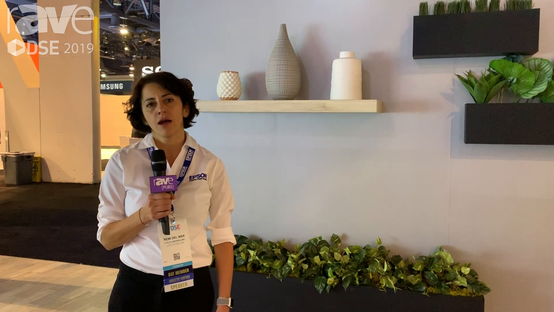 DSE 2019: Epson Talks About Its LightScene Laser Projector for Digital Signage Retail Applications