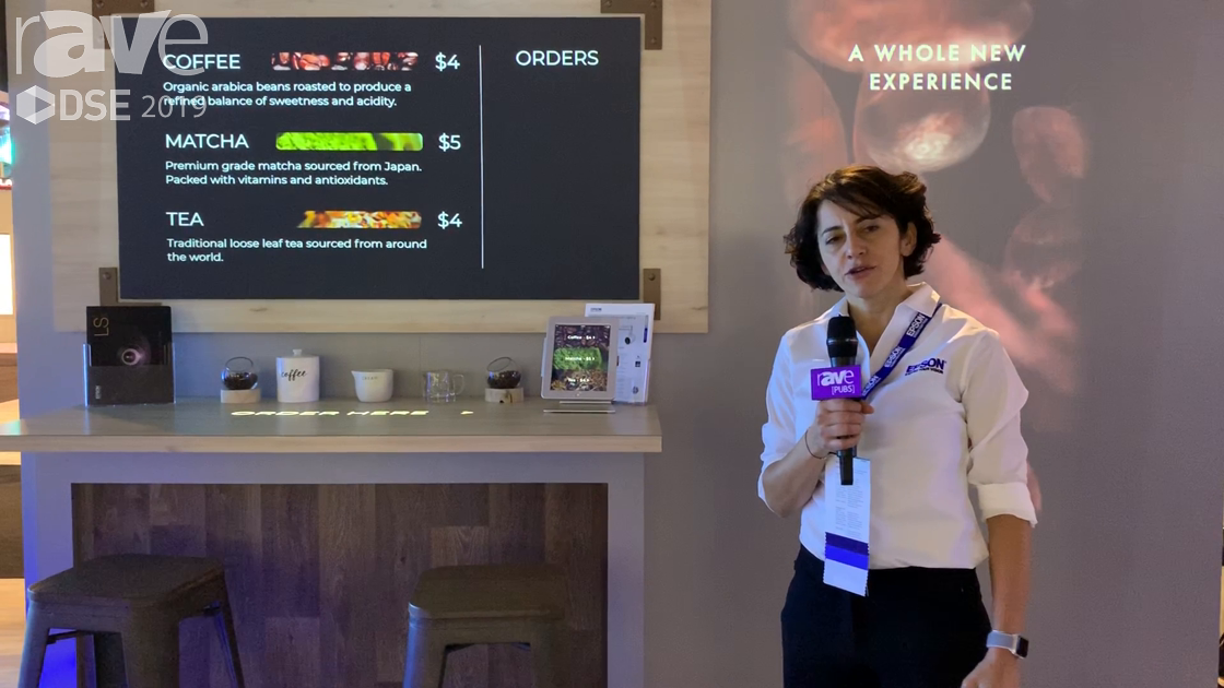 DSE 2019: Epson Showcases LightScene in an Interactive Coffee Station Digital Experience