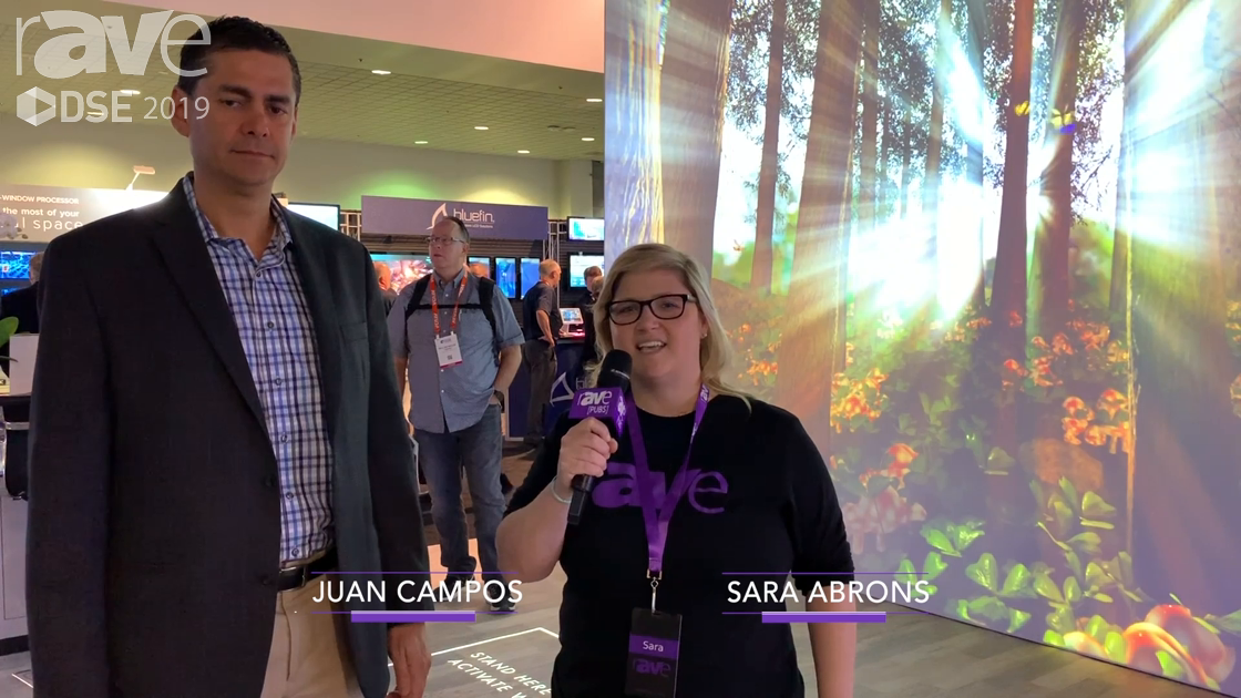 DSE 2019: Epson Senior Product Manager Juan Campos Gives a Tour of Epson's DSE Booth in Spanish