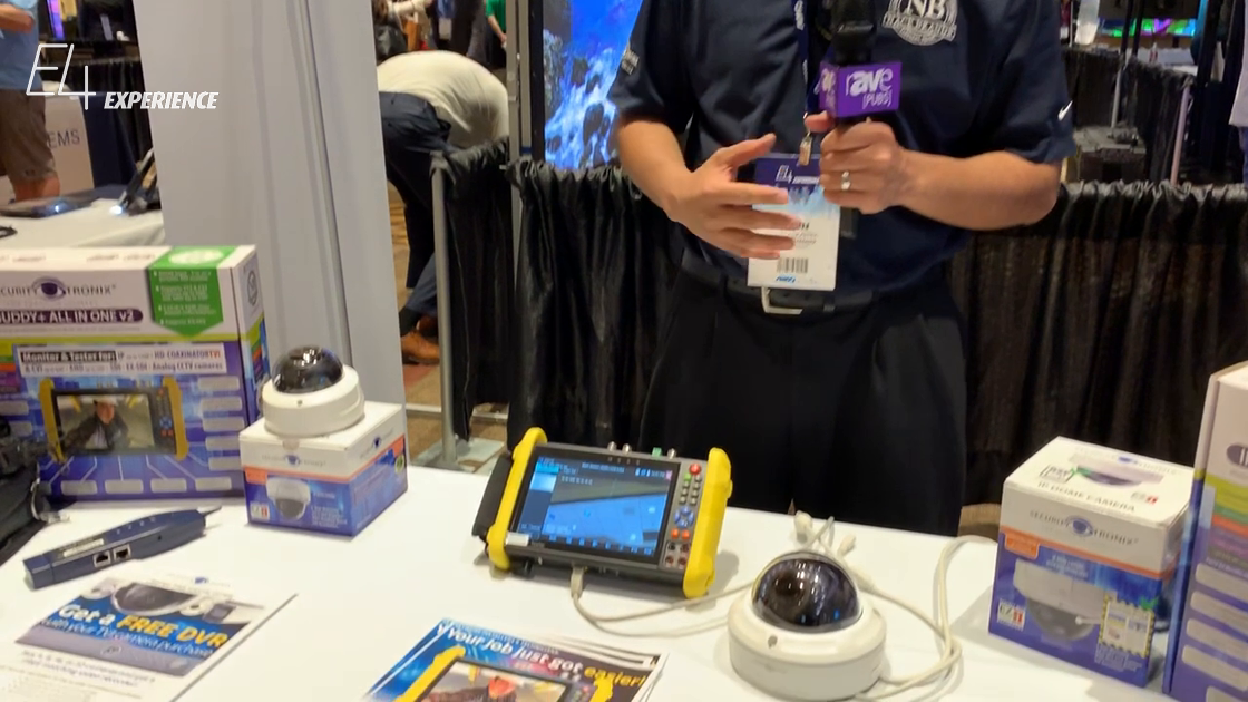 E4 Experience: Security Tronix Shows IP BUDDY + All-in-One Test Unit for Surveillance Applications