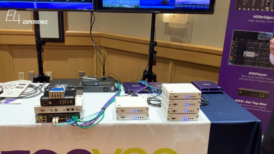 E4 Experience: ZeeVee Showcases SDVoE ZyPer4K AV-Over-IP Solution