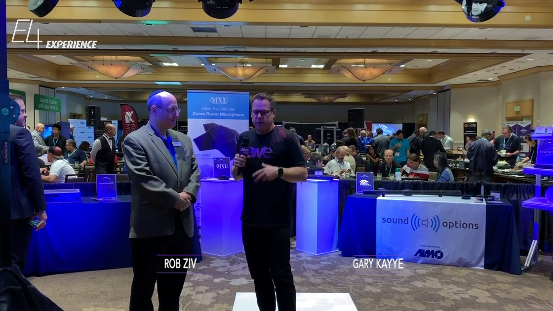 E4 Experience: Gary Kayye Interviews Rob Ziv of Almo Pro AV About Its SoundOptions