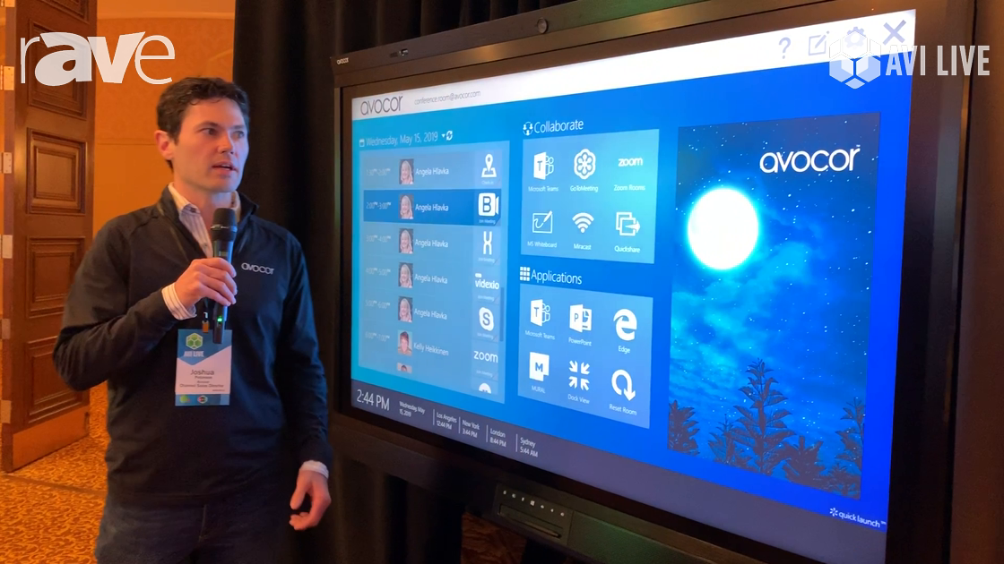AVI LIVE: Avocor Demos Avocor Windows Collaboration Display with UC Workspace QuickLaunch Software