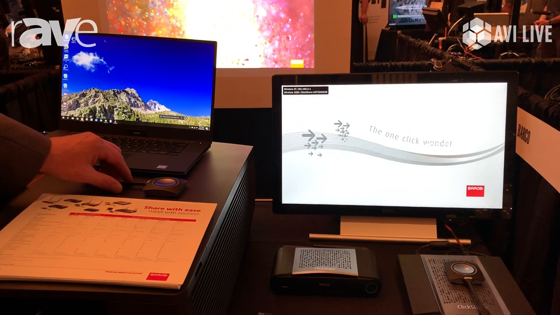 AVI LIVE: Barco Demos New ClickShare App and CSE-200+ Wireless Presentation Device