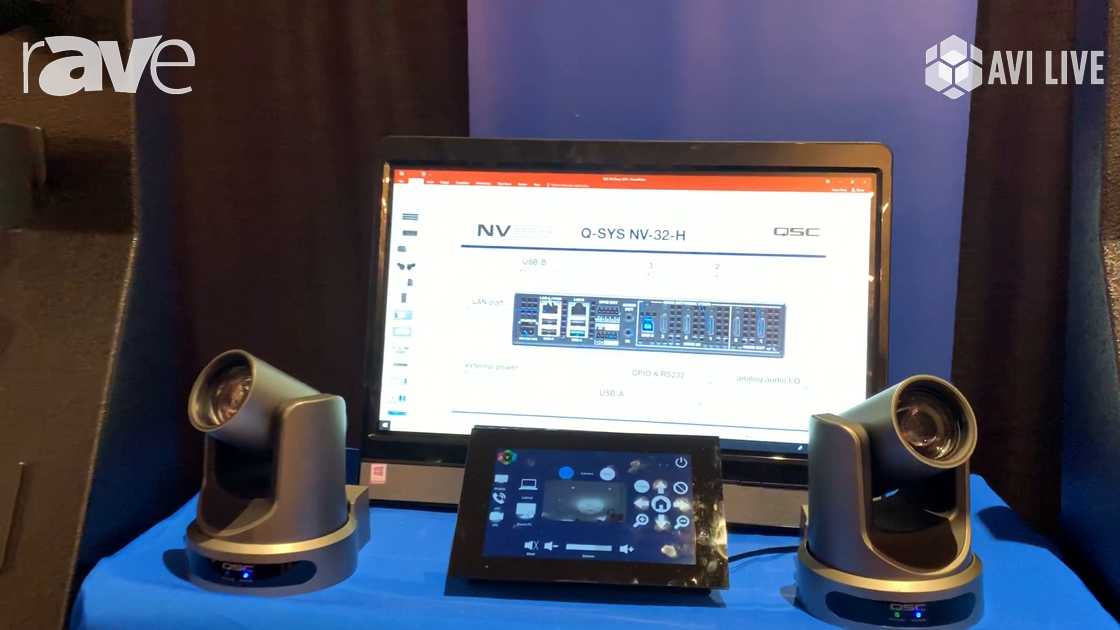 AVI LIVE: QSC Presents Q-SYS Audio DSP and Q-SYS NV-32-H for Control and Video