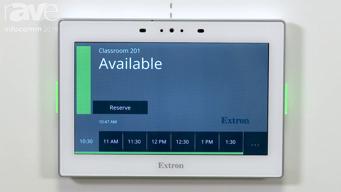 InfoComm 2019: Extron Showcases Its Room Scheduling Solutions, Including PoE Touch Panels