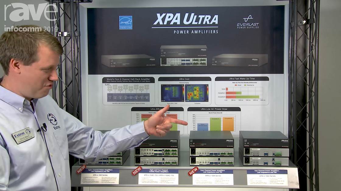 InfoComm 2019: Extron Shows XPA Ultra Series Power Amplifiers, Including Compact 8-Channel Version