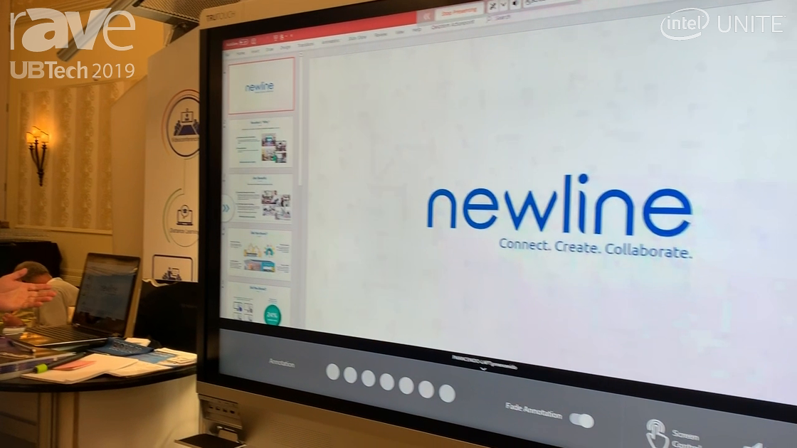 UB Tech 2019: Newline Interactive Features Its X6 Unified Collaborative Device With Intel UNITE
