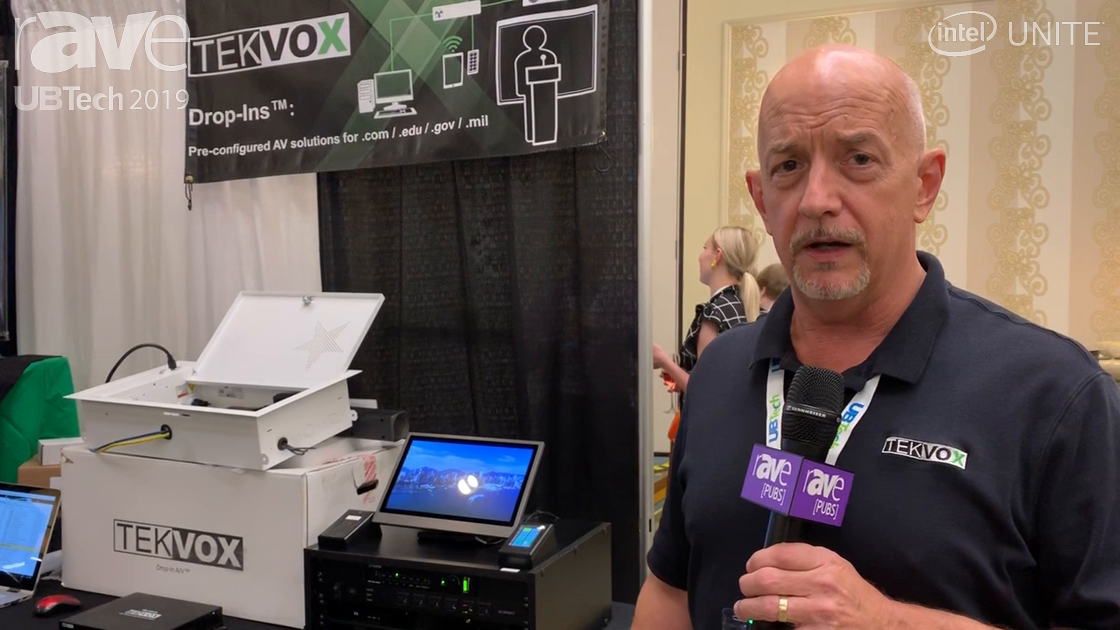 UB Tech 2019: TEKVOX Offers a Drop-In, No-Programming-Rquired Audio Visual System