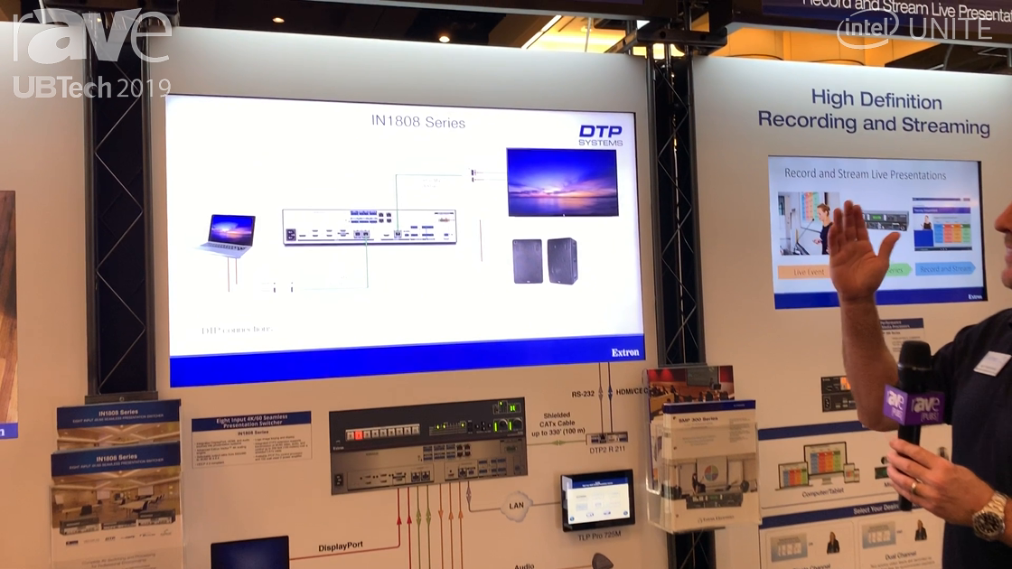 UB Tech 2019: Extron Highlights Its IN1808 4K 60 Seamless Presentation Switcher