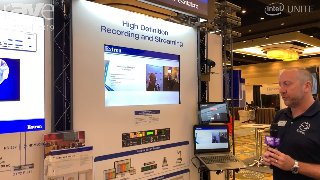 UB Tech 2019: Extron Showcases SMP 300 Series That Can Record and Stream Simultaneously