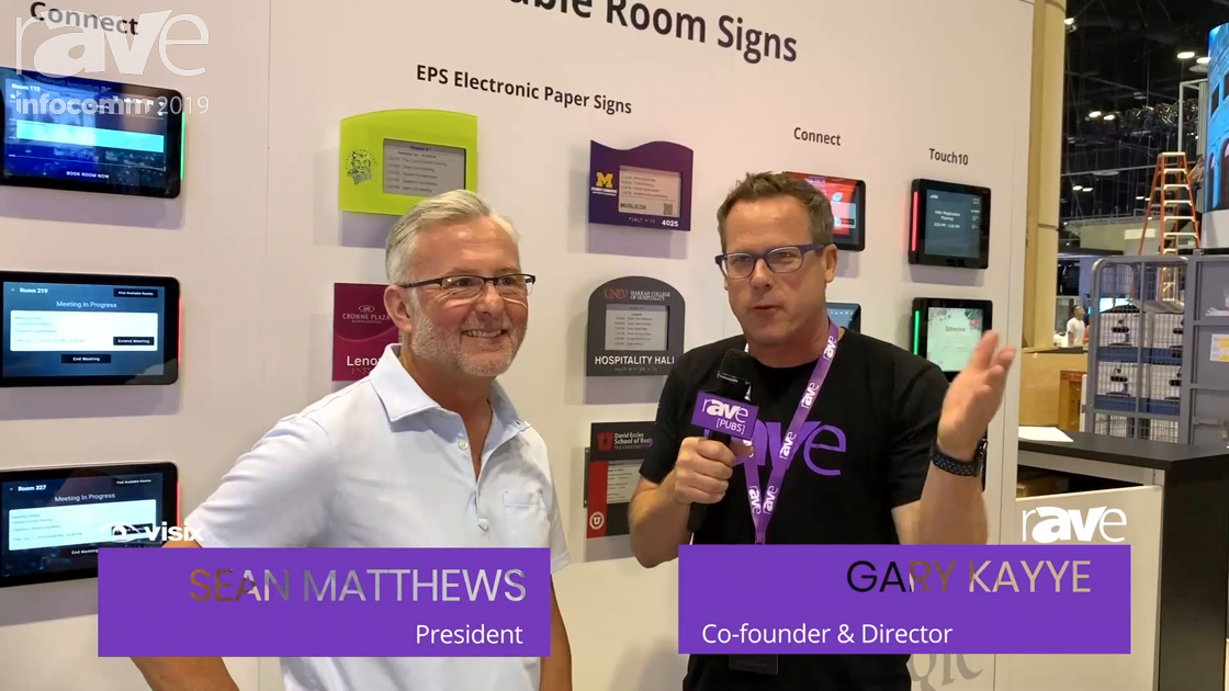 InfoComm 2019: Sean Matthews of Visix Talks to Gary, Debuts Customizable Room Signs and Voice Control