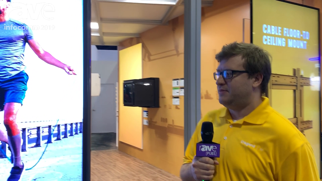 InfoComm 2019: Chief Intros OMNDBF55 Mounts for Samsung OM55N-D Double-Sided Retail Window Display