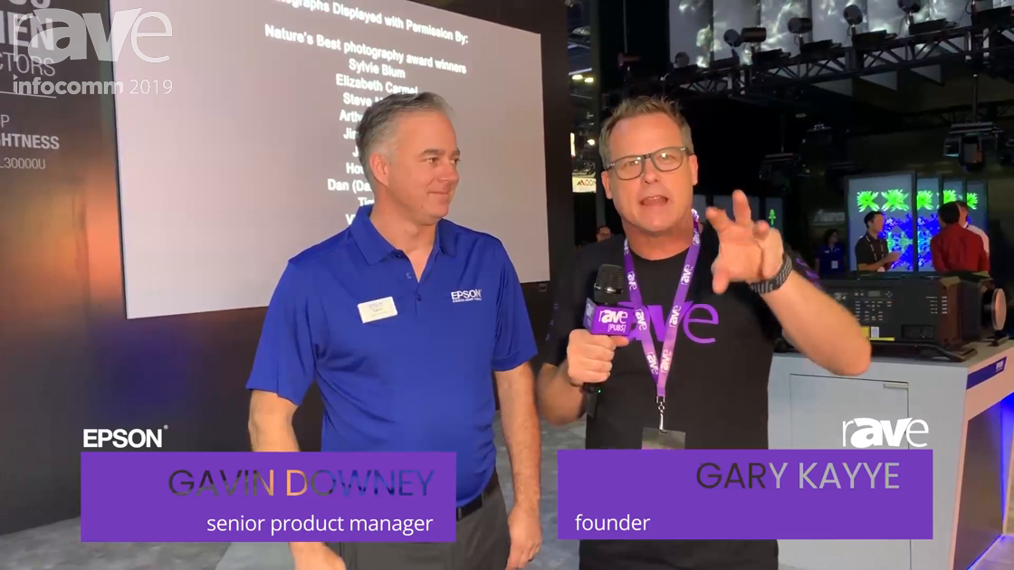 InfoComm 2019: Gavin Downey Leads Gary on Tour of the Epson Booth
