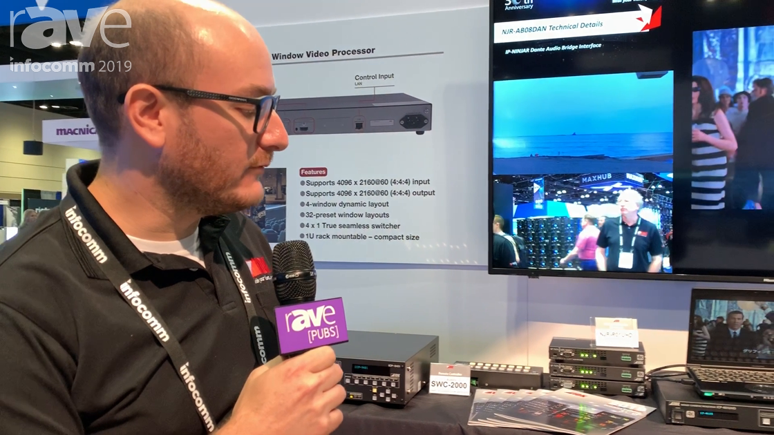 InfoComm 2019: IDK Corporation Shows ICP-401UHD 4K 4-Input, 1-Output Multi-Window Video Processor