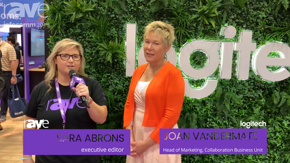InfoComm 2019: Sara Abrons Talks to Joan Vandermate of Logitech About Logitech Tap, Collaboration