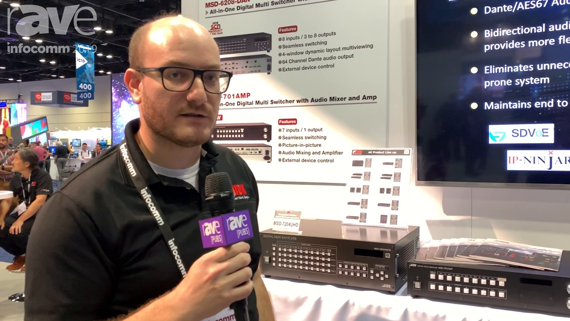 InfoComm 2019: IDK Corporation Demos Its All-In-One Digital Multi Switcher