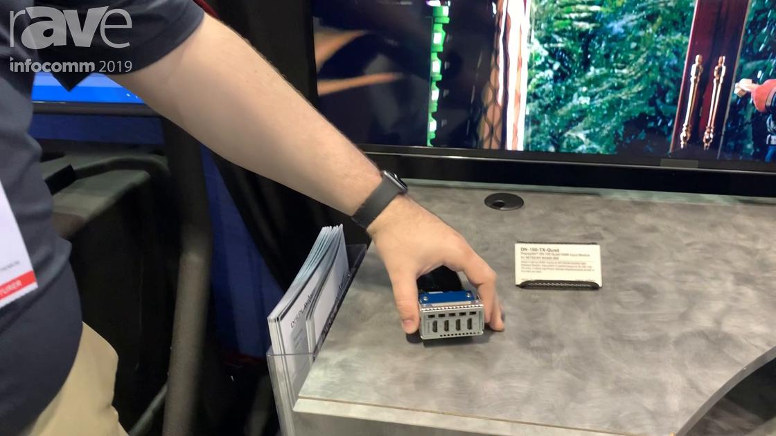 InfoComm 2019: DVIGear Shows DisplayNet DN-150-TX-Quad Quad HDMI Input Module for NETGEAR M4300-96X