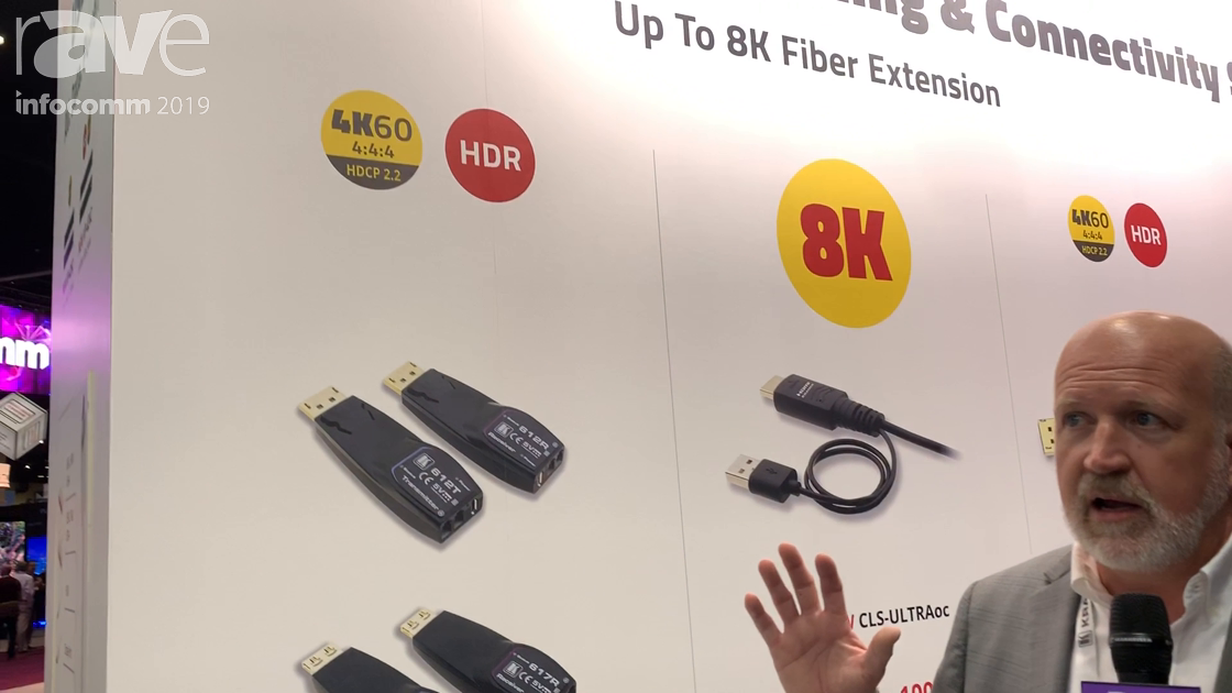 InfoComm 2019: Kramer's 612R/T & 617R/T Extends DisplayPort and HDMI Over MM Fiber Up to 200 Meters