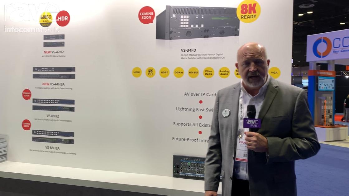 InfoComm 2019: Kramer Shows VS-34FD Modular Matrix Switcher, Adds 18Gbps Capability to Switchers