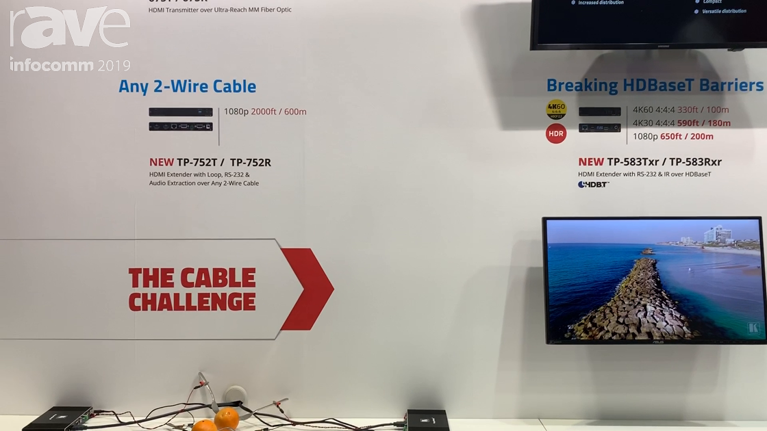 InfoComm 2019: Kramer TP-752T/TP-752R Extender Sends Any 1080p Signal Up to 2,000 Feet on Any Wire