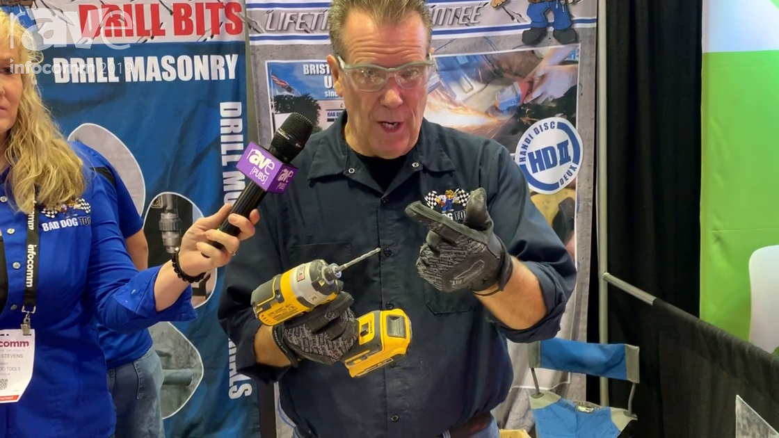 InfoComm 2019: Bad Dog Tools Demos Multi Purpose Drill Bit for All Surfaces