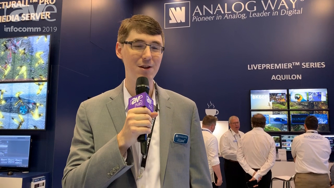 InfoComm 2019: Analog Way Shows Aquilon 4K/8K Live Presentation Switcher With 24 4K@60 In AND Out