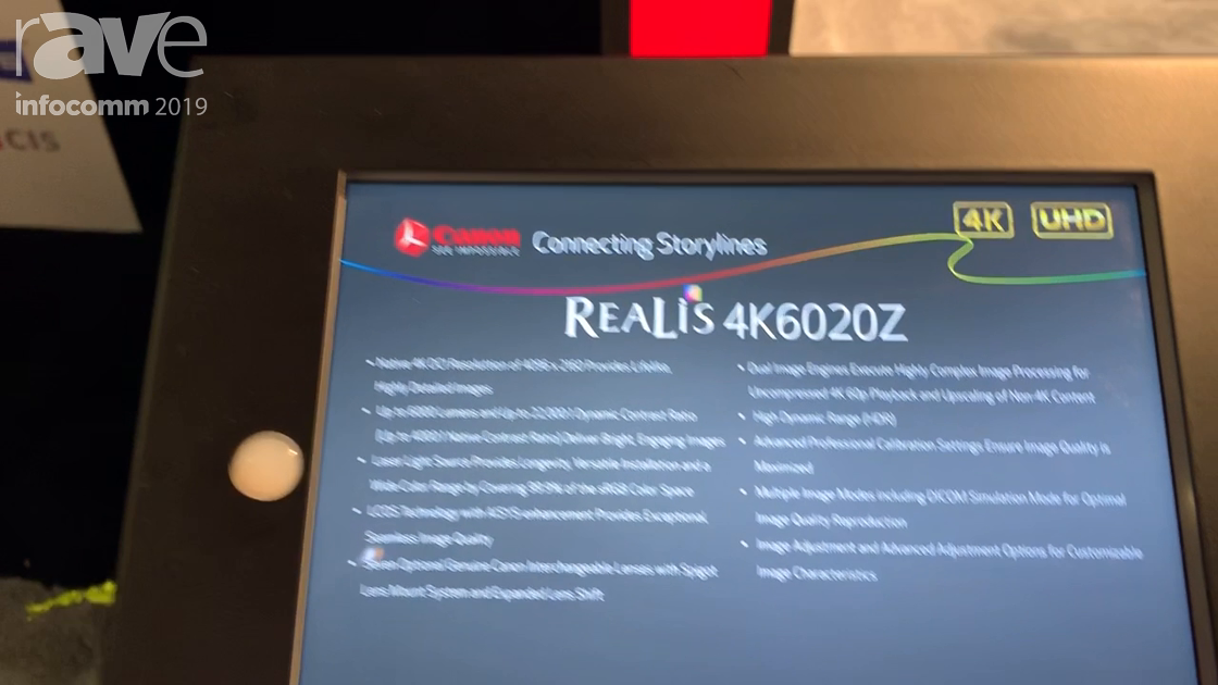 InfoComm 2019: Canon Presents REALiS 4K6020Z Projector With LCoS