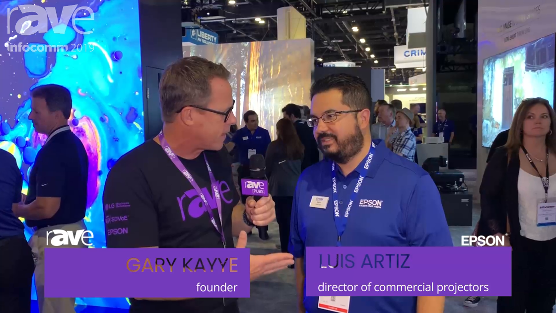 InfoComm 2019: Gary Interviews Luis Artiz from Epson About Laser Projection, MOVERIO and InfoComm