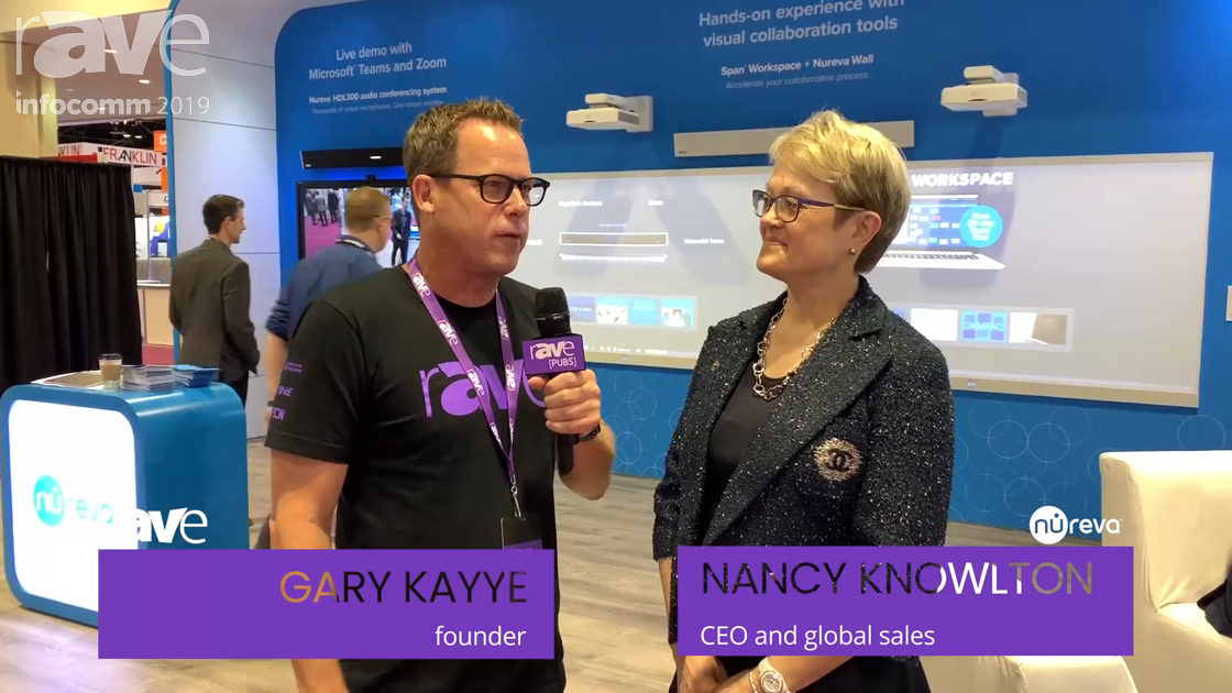 InfoComm 2019: Gary Interviews Nancy Knowlton About Span Workspace, the Nureva Wall and the HDL 300