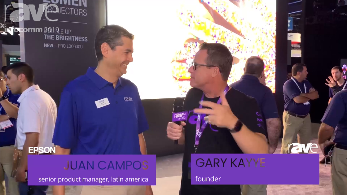 InfoComm 2019: Juan Campos Takes Us on an Epson InfoComm 2019 Booth Tour (in Spanish)