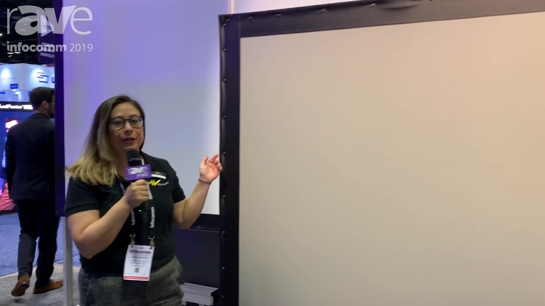 InfoComm 2019: AV Stumpfl Shows t-32 Shift MonoClip32 FP Stand for Projection Screens