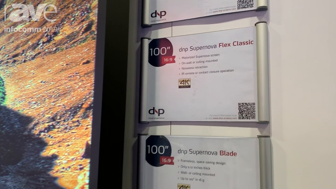 InfoComm 2019: dnp North America Talks About 100 Inch dnp Supernova Flex Classic Screen