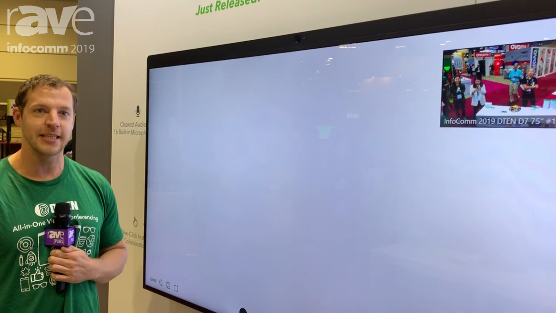 InfoComm 2019: DTEN Reveals the Totally New DTEN D7, a 75″ All-in-One Zoom Room Conferencing Display