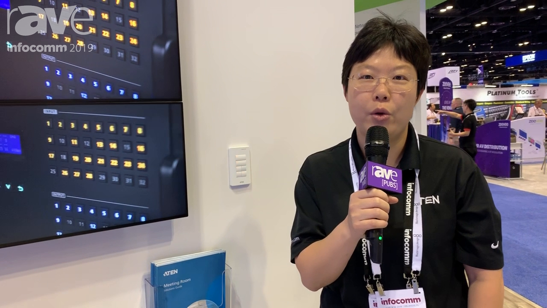 InfoComm 2019: ATEN Demos VM3200 Matrix Switch and VK0100 Control Keypad