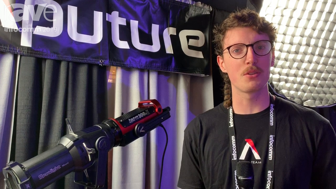 InfoComm 2019: Aputure Features 300dII Point Source LED Light and Spotlight Mount