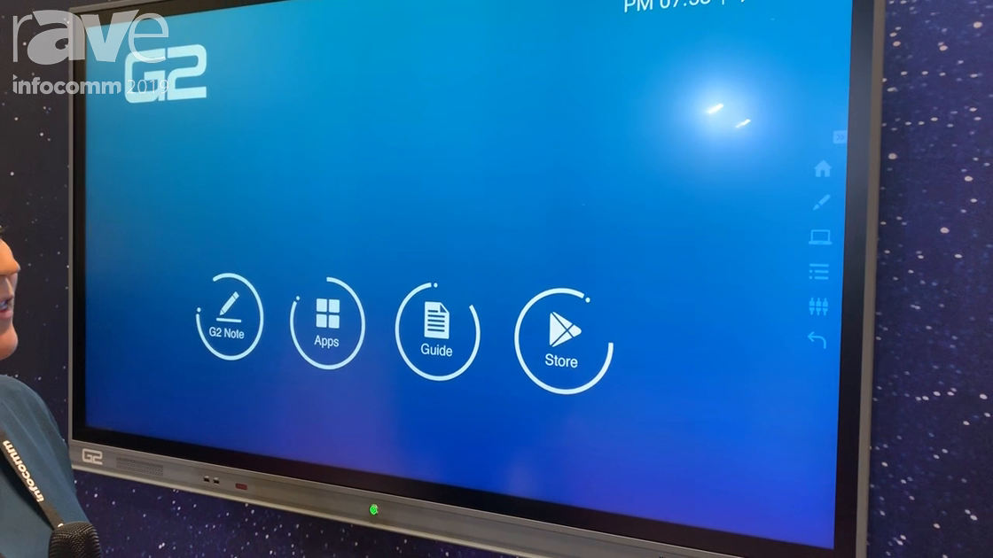 InfoComm 2019: Galaxy Next Generation Shows Off Its G2 System Slim6500 Interactive Flat Panels