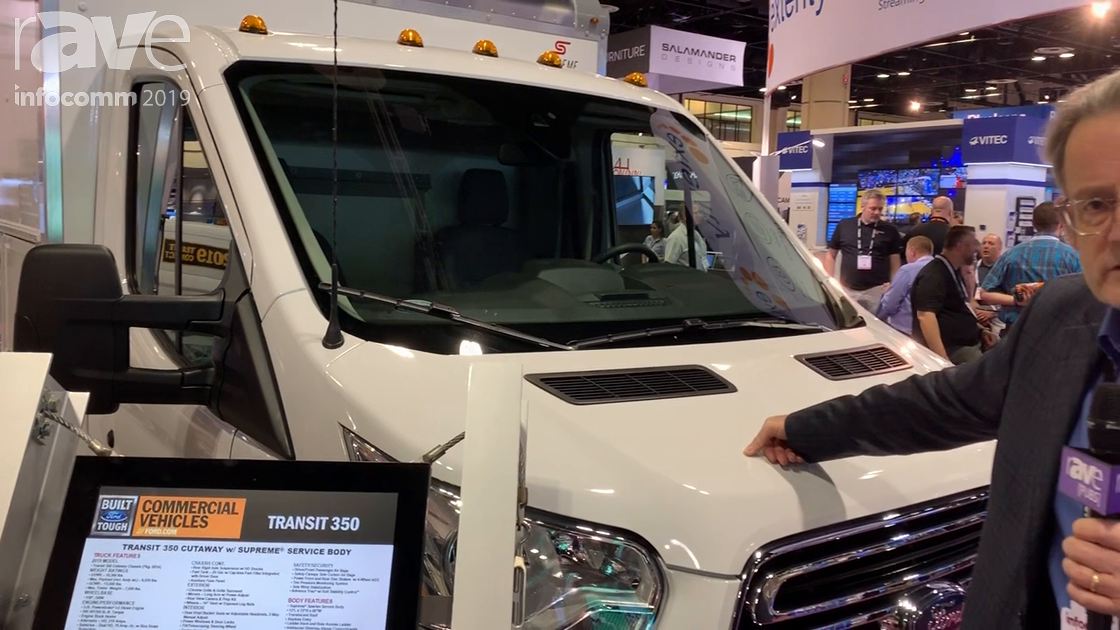 InfoComm 2019: Ford Shows Off Its Transit 350 Cutaway with Supreme Service Body